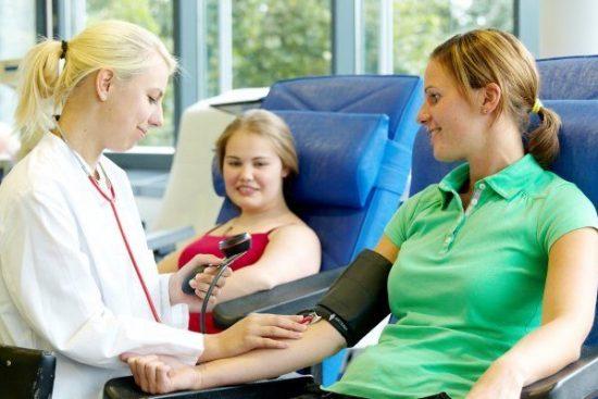 Aufruf zur Blutspende beim Roten Kreuz