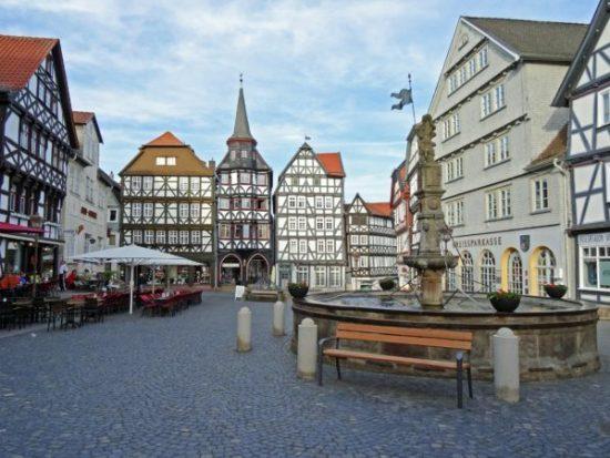 Der Marktplatz in Fritzlar (Author: Hubert Berberich)
