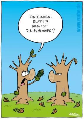 Eine der zahlreichen Karikaturen von Ralf Ruthe