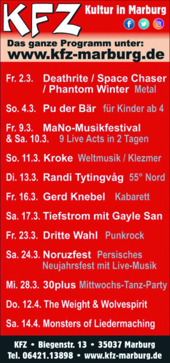 Gerd Knebel in Marburg - Nicht Weggugge!