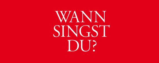 "Kreativwettbewerb der Kasseler Musiktage 2018 unter dem Motto ""Wann singst du?"""
