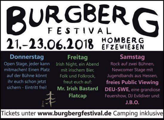 Burgberg Festival 2018 in Homberg (Efze)