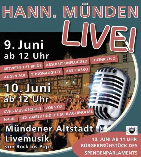 Hann. Münden live 2018: Stadtfest mit diversen Liveacts