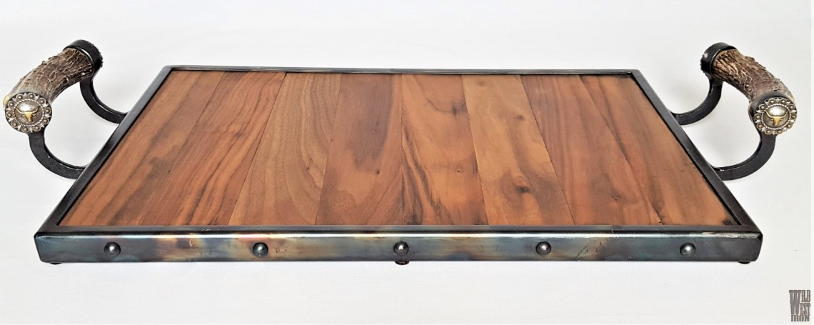 Steer Serving Tray with Horn Handles