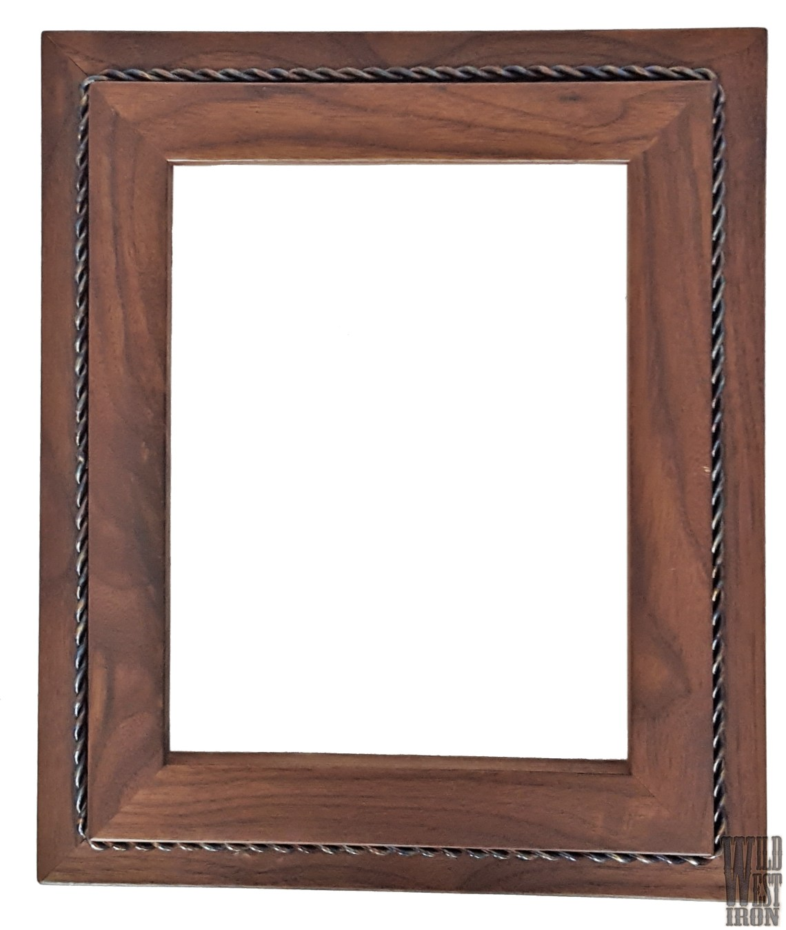 Walnut Picture Frame with One Braid Front