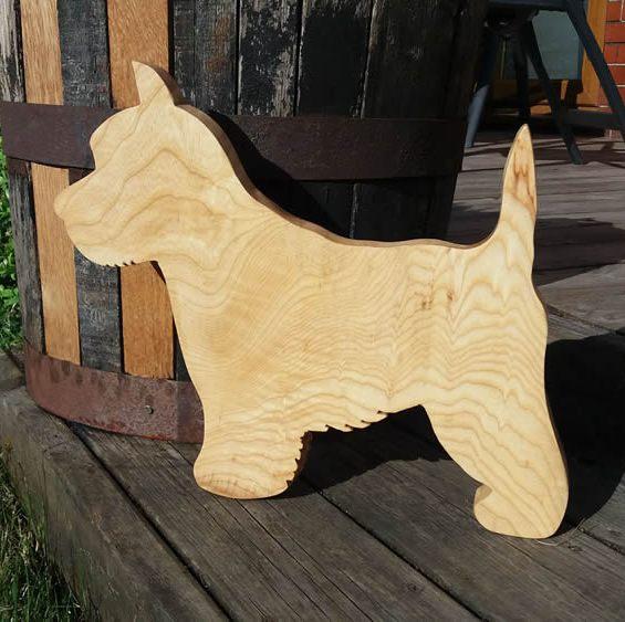 Hardwood Dog Cheese / Breadboard. Ash