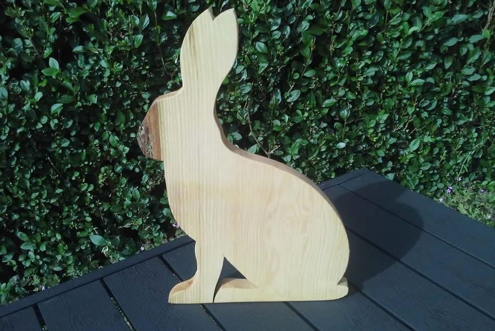 Hardwood Hare Cheese Breadboard Ash