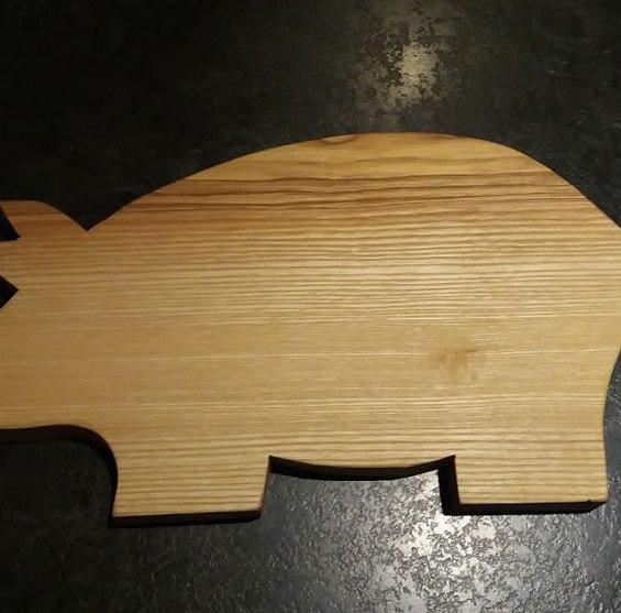 Hardwood Pig Cheese / Breadboard. Ash