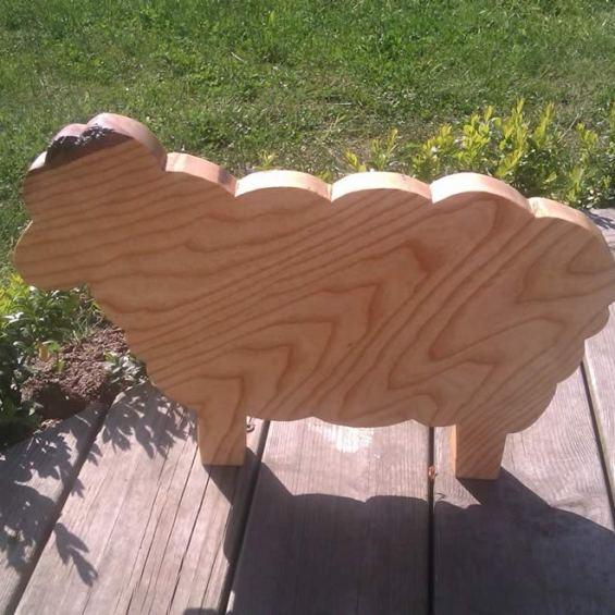 Hardwood Sheep Cheese / Breadboard. Ash