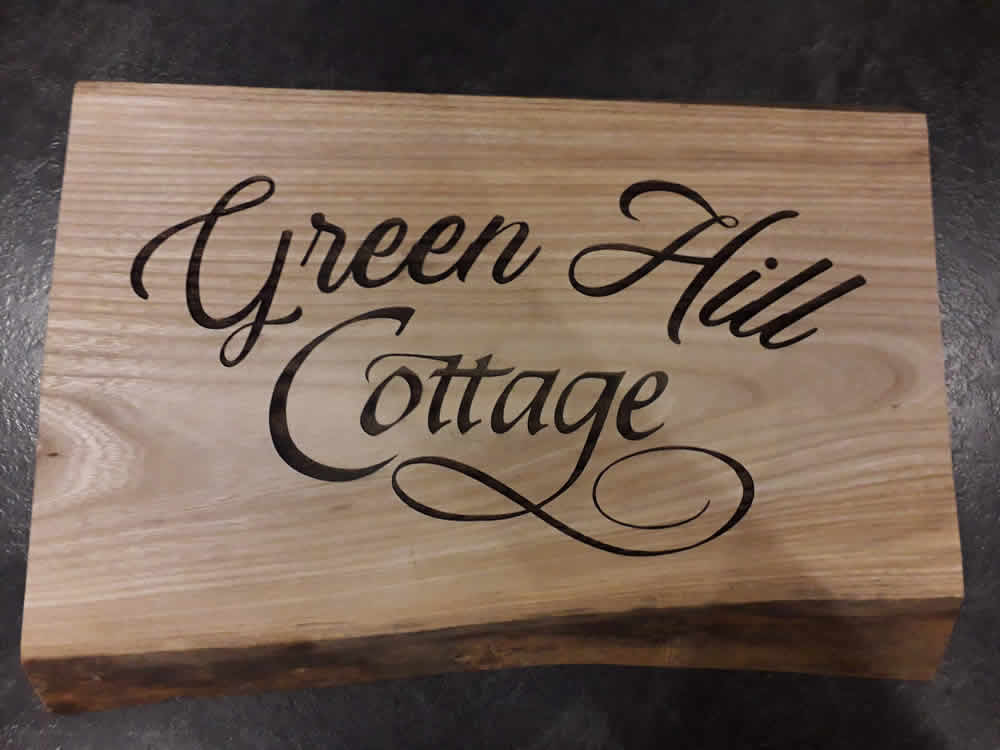 Personalised House Sign Oak