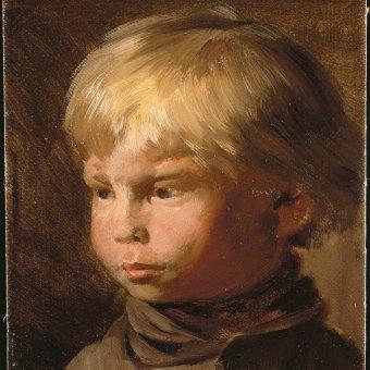 Wilhelm Busch (1832–1908), Bildnis eines Bauernjungen, um 1880, Wilhelm Busch – Deutsches Museum für Karikatur und Zeichenkunst