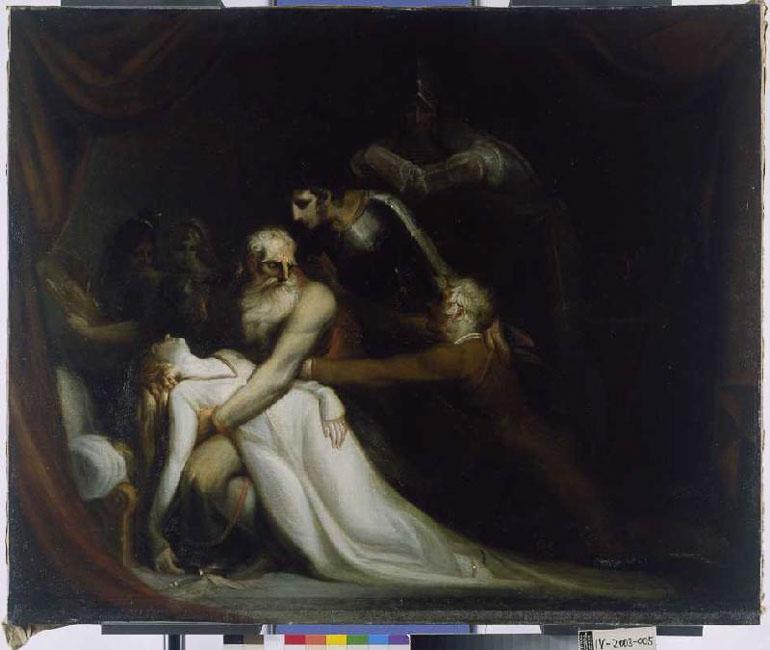 Johann Heinrich Füssli: Der Tod der Cordelia, um 1810/1820, Öl auf Leinwand, 117,1 x 142,6 cm, Freies Deutsches Hochstift / Frankfurter Goethe-Museum