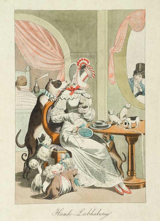 """""""Hunde=Liebhaberey"""". Anonym. 1820. Wilhelm Busch – Deutsches Museum für Karikatur und Zeichenkunst Wilhelm Busch - Deutsches Museum für Karikatur"""