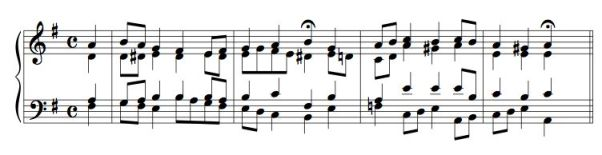 Bach Chorale 3 excerpt