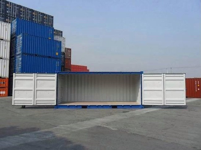 side opening containers