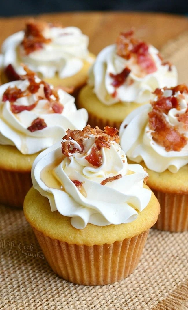Maple Bacon Cupcakes Will Cook For Smiles