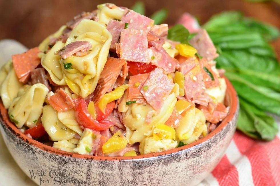Italian Tortellini Salad 4 from willcookforsmiles.com