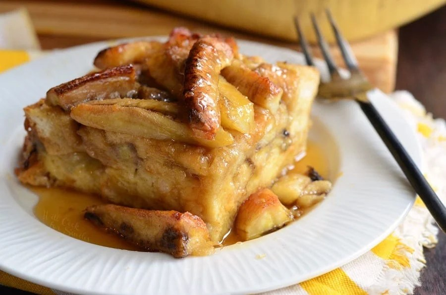 Bananas Foster Bread Pudding. from willcookforsmiles.com
