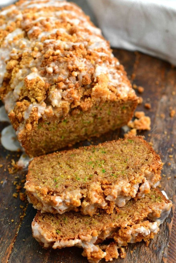 Our Favorite Zucchini Bread Super Moist And Soft Bread With Streusel And Icing