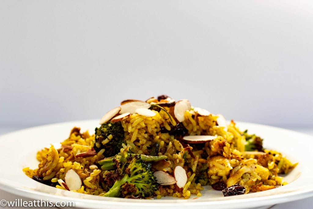 Curry Chicken and Broccoli Fried Rice