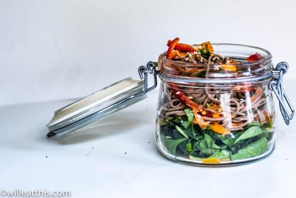 Vegan Soba Noodle Salad in a pot