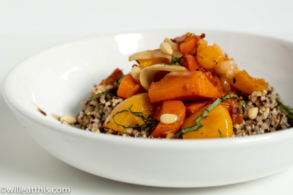 Close up picture of Roasted Butternut Squash Medley