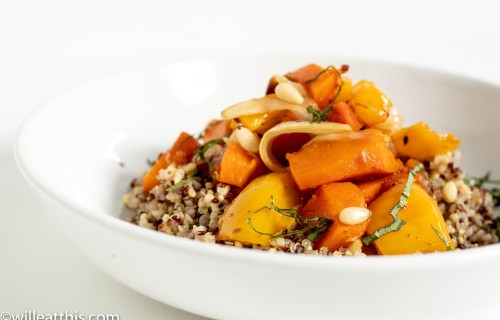 Roasted Butternut Squash Medley on Grains