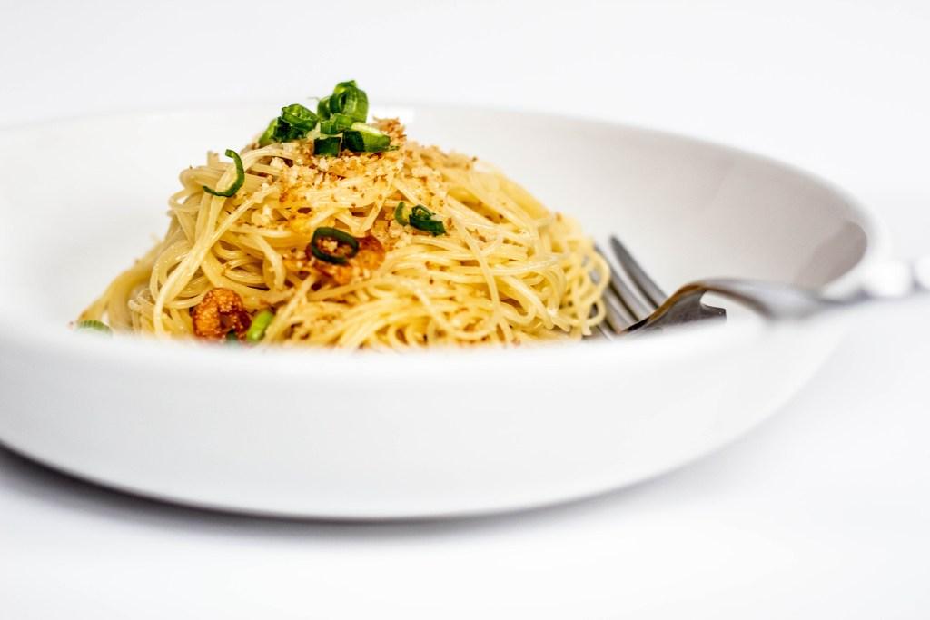 Spaghetti in Garlic Oil or Pasta Aglio e Olio