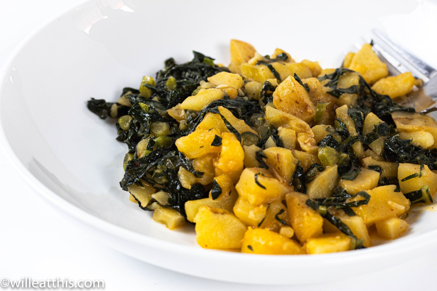 Curried Potato and Kale