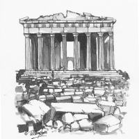 Illustration of the Acropolis in Athens