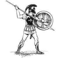 Illustration of a Spartan warrior