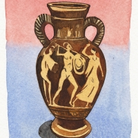 Watercolour Greek vase