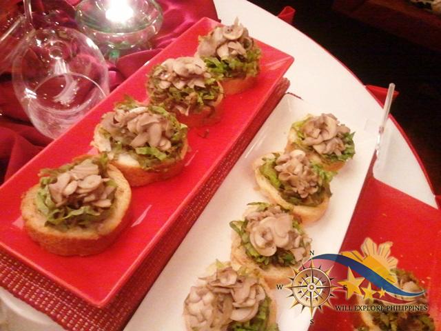 Bruschetta at Te Quiero Restaurant Microtel Baguio