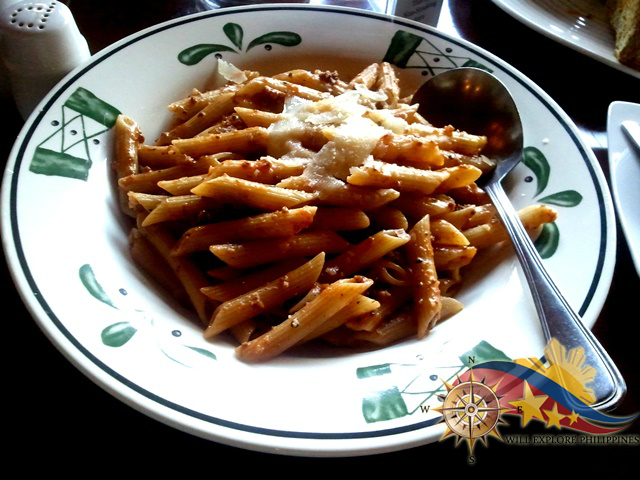 Penne alla Bolognese at The Manor Camp John Hay Baguio City
