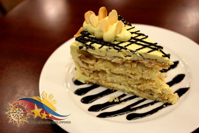Sans Rival with Toasted Almonds Dessert Gustav Cafe Angeles City