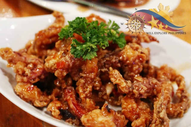 Sweet and Spicy Squid at Giligan's Restaurant Marquee Mall Angeles City