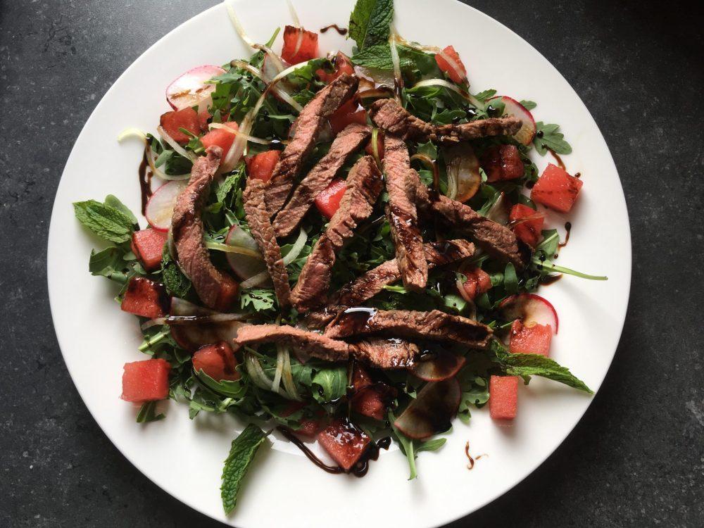 quick steak salad