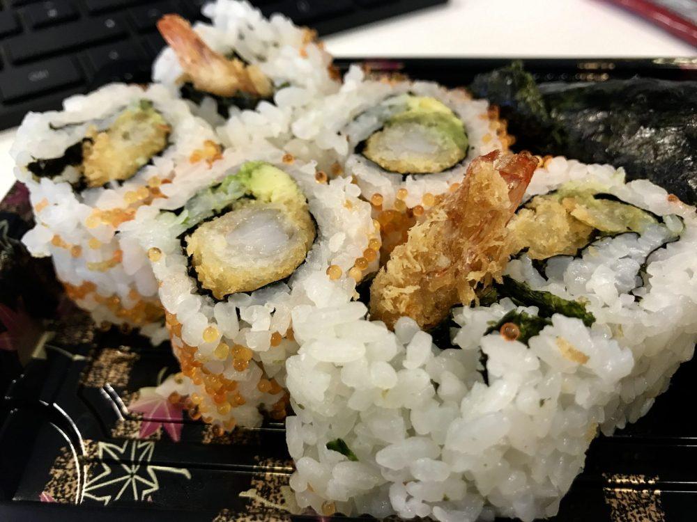 prawn sushi rolls