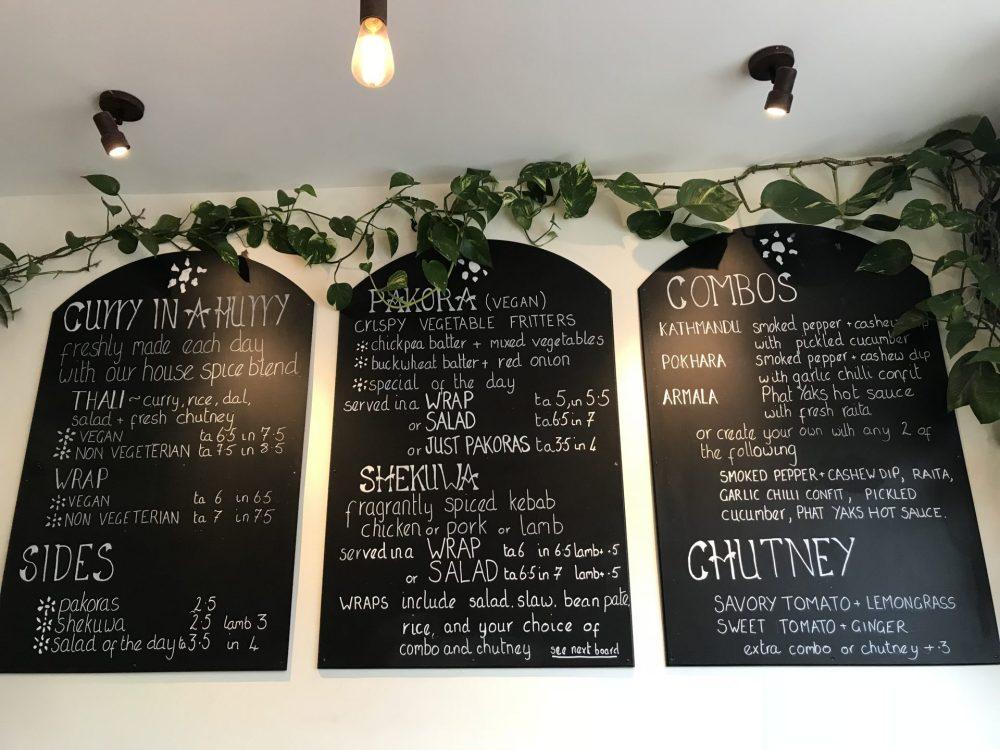Phat Yaks Bath menu