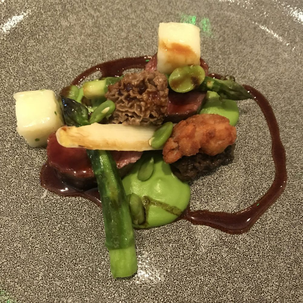 spring lamb and asparagus