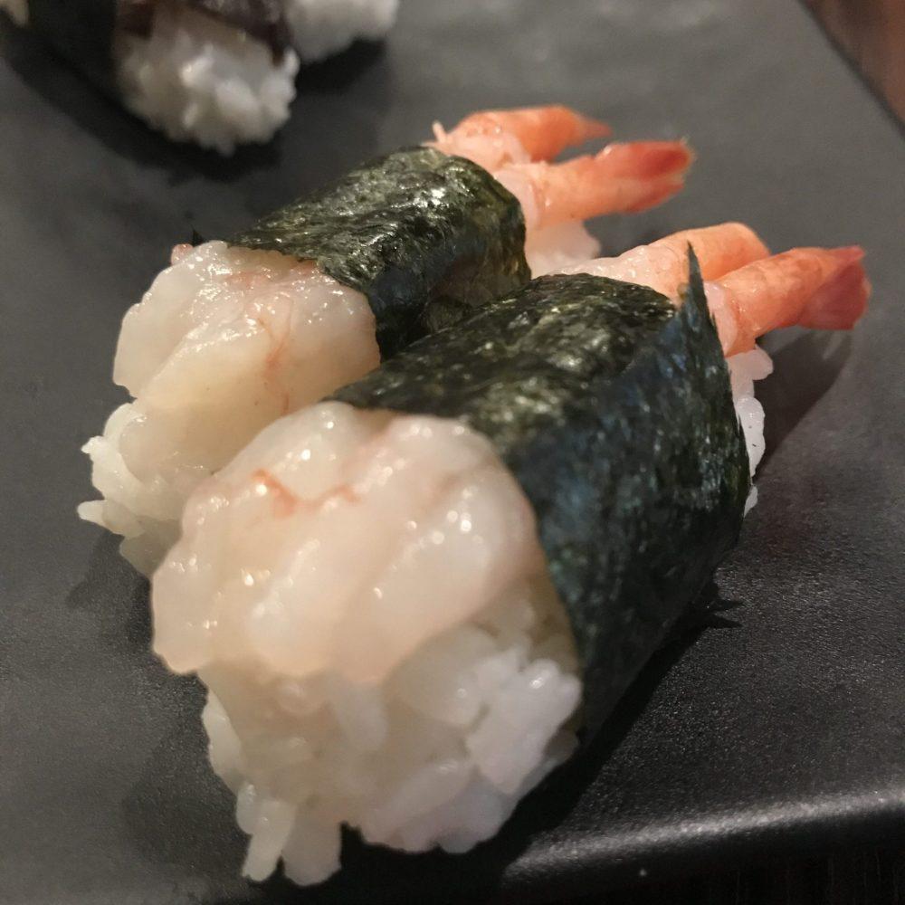 sweet prawn nigiri