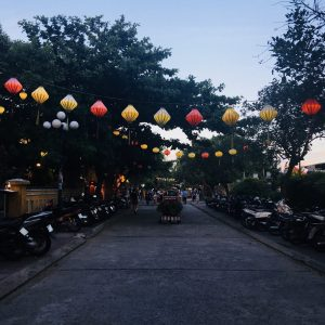 A surprisingly quiet Hoi An street