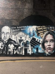 Birmingham Digbeth Graffiti Art by Andrew Mills aka title