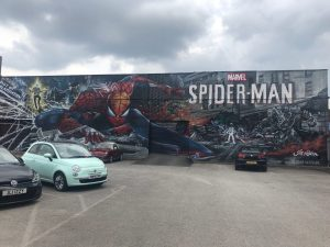 Birmingham Digbeth Street Art - Spider Man - Jim Vision and Gent48