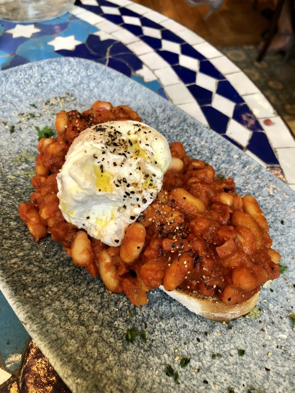 Cuban Beans on Toast