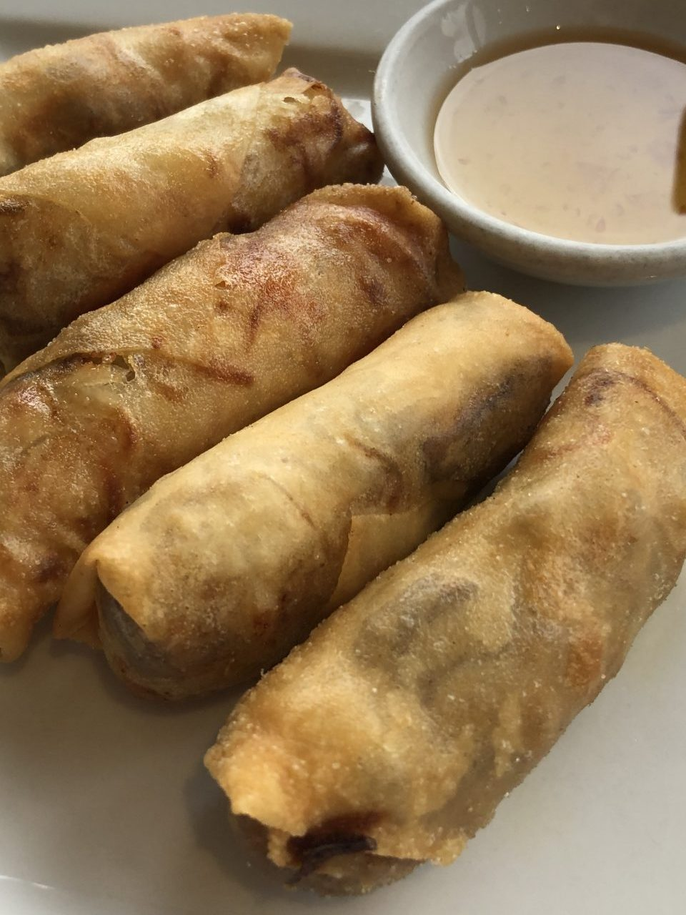 Spring rolls, East Restaurant Peterborough