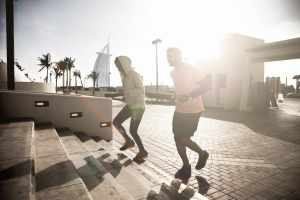 Fitness and exercising on steps in Dubai – Sporty People