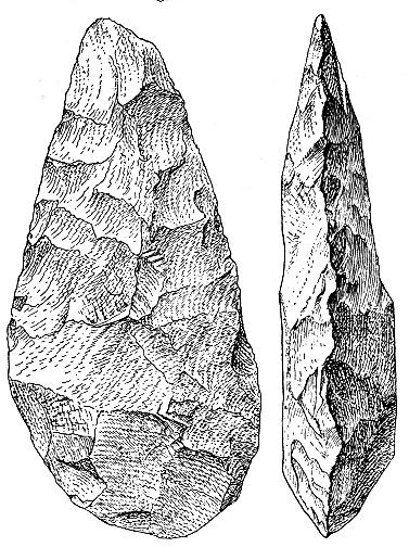 An Acheulean handaxe