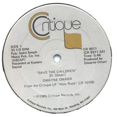 Dwayne Omarr - Save The Children side 1