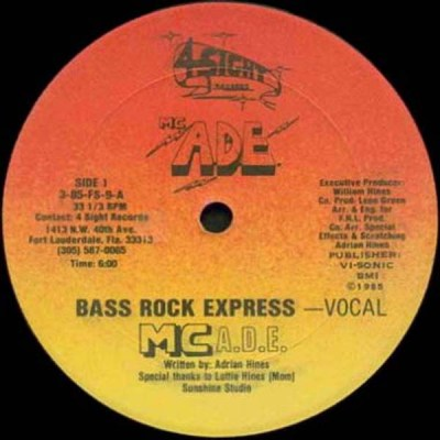 MC ADE - Bass Rock Express